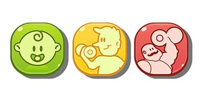 Logo App - Icons für Schwierigkeitsgrade